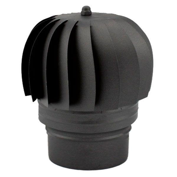Chapeau extracteur cheminée rotatif éolien Noir-Anthracite diamètre 200