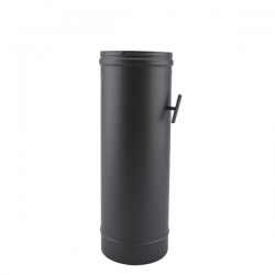 Tuyau de poêle régulateur de tirage en Inox Noir diamètre 150