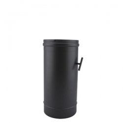Tuyau de poêle modérateur tirage en Inox Noir diamètre 100