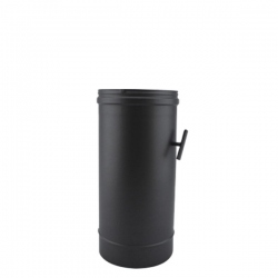 Tuyau de poêle modérateur tirage en Inox Noir diamètre 130