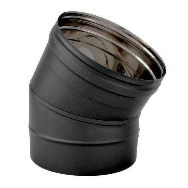 Conduit cheminée - Coude Inox 30° simple paroi Noir-Anthracite diamètre 160