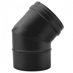 Coude Inox pour poêle a bois Noir-Anthracite diamètre 150