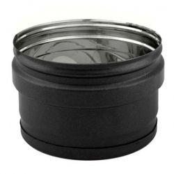 Bouchon conduit cheminee Inox simple paroi Noir-Anthracite diamètre 80