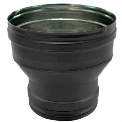 Réducteur tubage cheminée PRO Noir/Anthracite Ø125-90