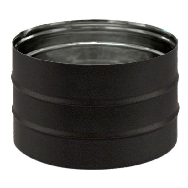Manchon mâle / mâle inox simple paroi PRO Noir / Anthracite Ø160