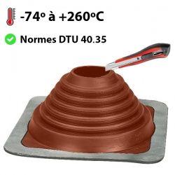 Pipeco Nº 4 silicone rouge vulcanisé haute températures Ø75 au Ø125 mm