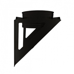 Support charge murale cheminée Noir/Anthracite Ø160
