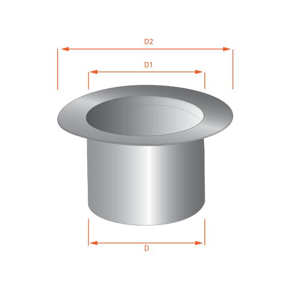 adaptateur tubage simple 150 double paroi r novation 150 200 trachemin e. Black Bedroom Furniture Sets. Home Design Ideas