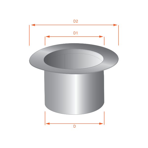 Adaptateur tubage simple 300 double paroi r novation - Tubage double paroi ...