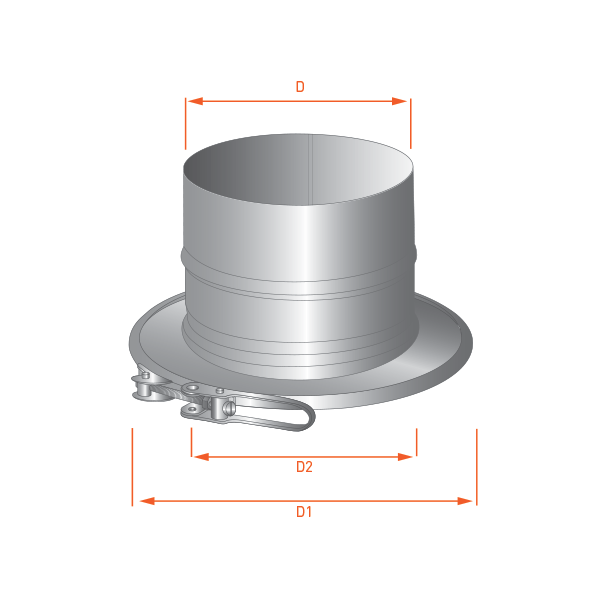 Adaptateur tubage CloseTop Ø100-150 » Simple Ø100