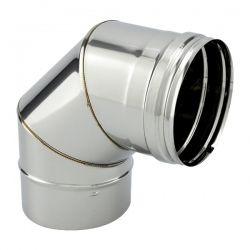 Coude à 90° inox pour conduit de cheminée diamètre 130
