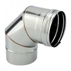 Coude à 90° inox pour conduit de cheminée diamètre 160