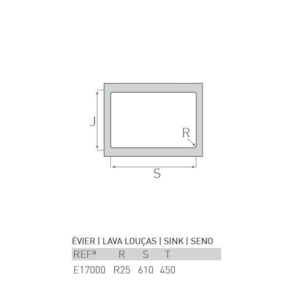 Evier Inox A Encastrer Maree 1 Cuve 60 X 50 Tracheminee
