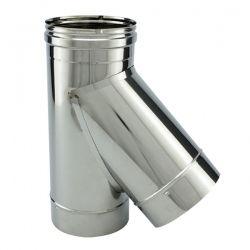Tubage cheminée - Té 45° simple paroi PRO Ø400