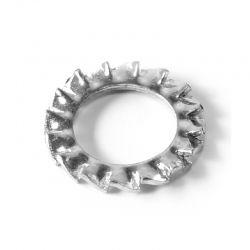 Rondelle Evantail à dentures extérieures Inox A2 diam: M8 DIN 6798-A