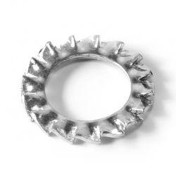 Rondelle Evantail à dentures extérieures Inox A2 diam: M12 DIN 6798-A
