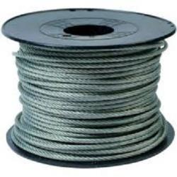 Câble d'acier Inox-Galvanisé plastifié Ø 2mm - vendu au mètre
