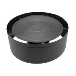 Conduit cheminée - Chapeau anti-pluie simple paroi Noir/Anthracite Ø90