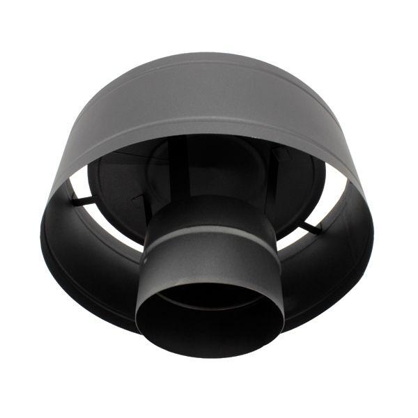 Conduit cheminée - Chapeau anti-pluie simple paroi Noir/Anthracite Ø100