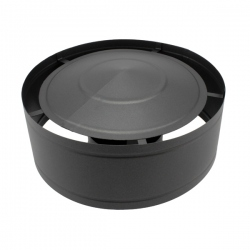 Conduit cheminée - Chapeau anti-pluie simple paroi Noir/Anthracite Ø110