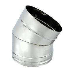 Coude à 30° Inox pour conduit de cheminée diamètre 100