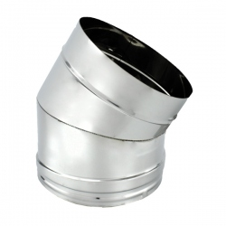 Coude à 30° Inox pour conduit de cheminée diamètre 130