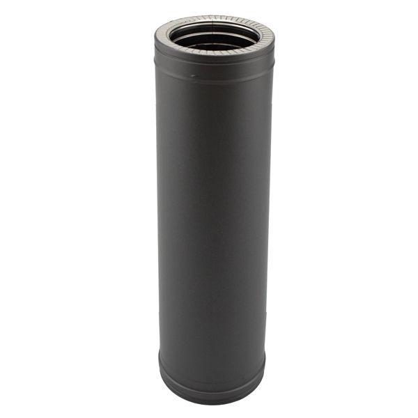 Tuyau poêle double paroi 1M Noir diamètre 100-150
