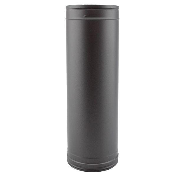 tubage chemin e double paroi tuyau 1m noir 350 400. Black Bedroom Furniture Sets. Home Design Ideas