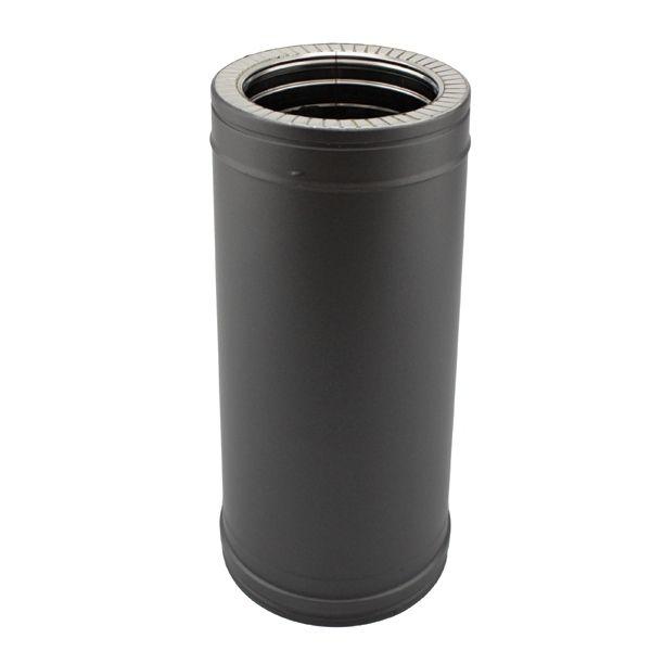 Tuyau poêle double paroi 50CM Noir diamètre 80-130