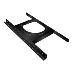 Support Charge Plancher Bois Noir/Anthracite Ø80