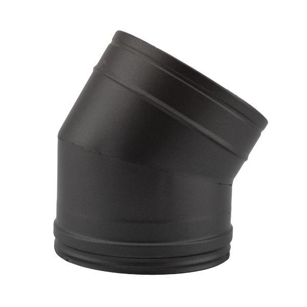 Conduit chemin e coude 30 double paroi noir anthracite - Reducteur cheminee 200 150 ...
