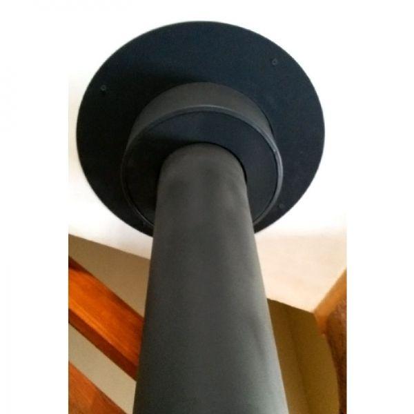 rosace plafond bois noir anthracite 130 trachemin e. Black Bedroom Furniture Sets. Home Design Ideas