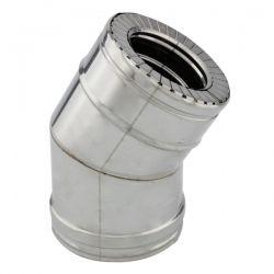 Conduit cheminée - Coude 30° double paroi isolé Ø100-150