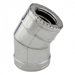Conduit cheminée - Coude 30° double paroi isolé Ø130-180