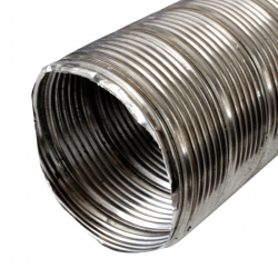 Tubage cheminée - Gaine inox flexible simple paroi Ø90