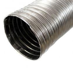 Tubage cheminée - Gaine inox flexible double paroi Ø100