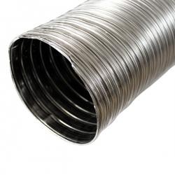 Tubage cheminée - Gaine inox flexible double paroi Ø140