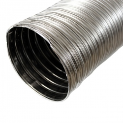 Tubage cheminée - Gaine inox flexible double paroi Ø150