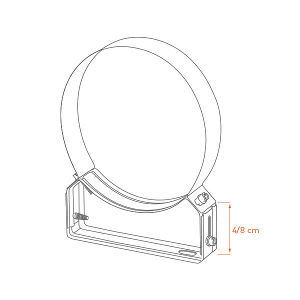 Collier support réglable 4/8 cm diam 80
