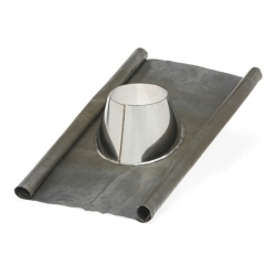 conduit tubage cheminee solin d'étancheité plomb-inox Ø150
