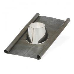 conduit tubage cheminee solin d'étancheité plomb-inox Ø400