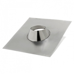 Solin d'étancheité cheminée en Inox pour toit plats Ø 90 mm